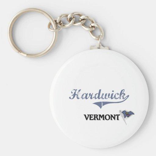 Obra clásica de la ciudad de Hardwick Vermont Llavero Personalizado