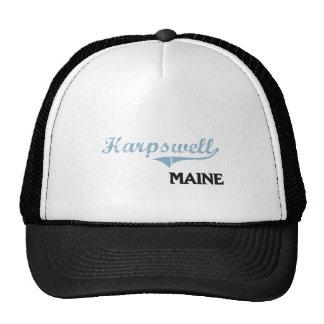 Obra clásica de la ciudad de Harpswell Maine Gorras