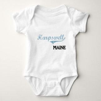 Obra clásica de la ciudad de Harpswell Maine Playera