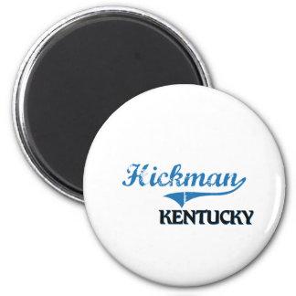 Obra clásica de la ciudad de Hickman Kentucky Imán Redondo 5 Cm