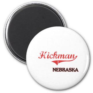 Obra clásica de la ciudad de Hickman Nebraska Imán Redondo 5 Cm