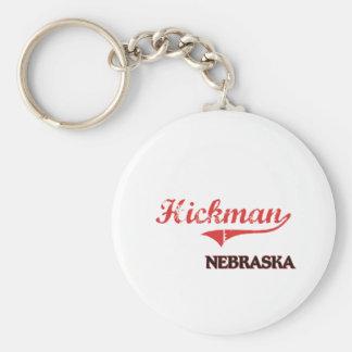 Obra clásica de la ciudad de Hickman Nebraska Llavero Redondo Tipo Pin
