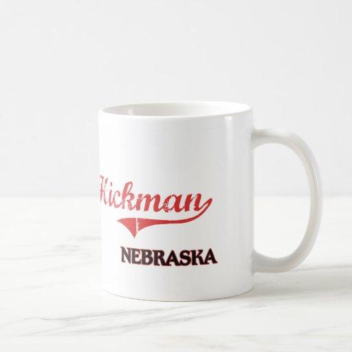 Obra clásica de la ciudad de Hickman Nebraska Taza