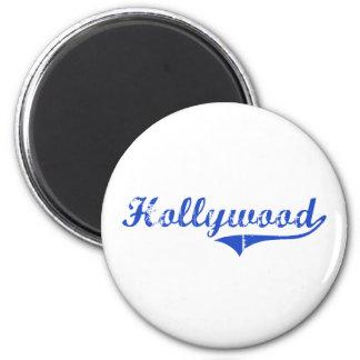 Obra clásica de la ciudad de Hollywood Imán Redondo 5 Cm