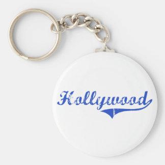Obra clásica de la ciudad de Hollywood Llavero Redondo Tipo Pin