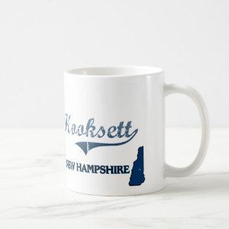 Obra clásica de la ciudad de Hooksett New Hampshir Tazas De Café