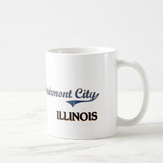 Obra clásica de la ciudad de Illinois de la ciudad Taza Básica Blanca