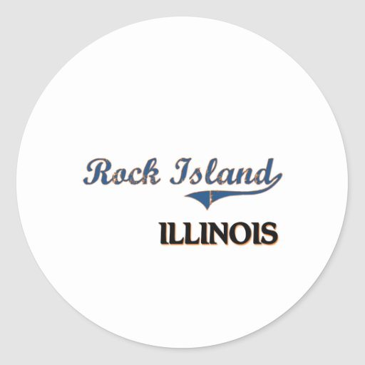 Obra clásica de la ciudad de Illinois de la isla Etiqueta Redonda