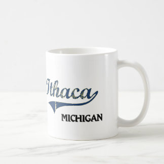 Obra clásica de la ciudad de Ithaca Michigan Tazas