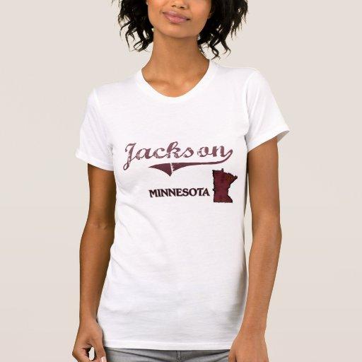 Obra clásica de la ciudad de Jackson Minnesota Camisetas