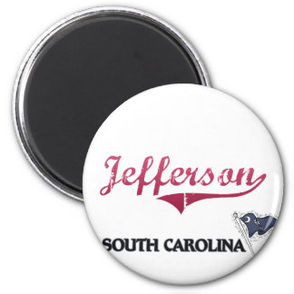 Obra clásica de la ciudad de Jefferson Carolina de Imán Redondo 5 Cm
