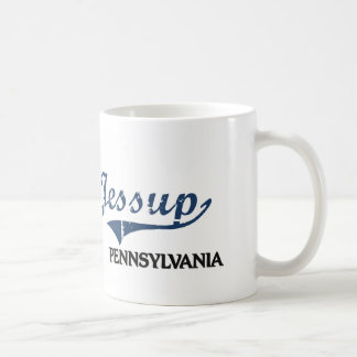 Obra clásica de la ciudad de Jessup Pennsylvania Taza Básica Blanca