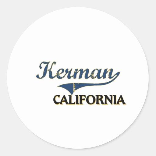 Obra clásica de la ciudad de Kermán California Pegatina Redonda