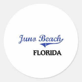 Obra clásica de la ciudad de la Florida de la Etiquetas Redondas