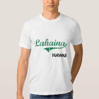 Obra clásica de la ciudad de Lahaina Hawaii Playeras