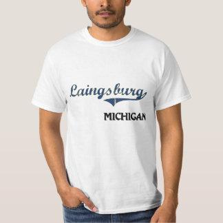 Obra clásica de la ciudad de Laingsburg Michigan Playeras