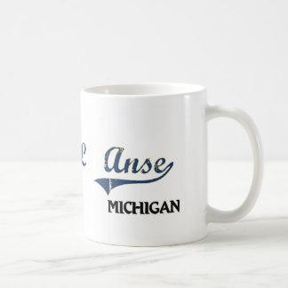 Obra clásica de la ciudad de L'Anse Michigan Tazas