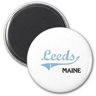 Obra clásica de la ciudad de Leeds Maine Imán Redondo 5 Cm