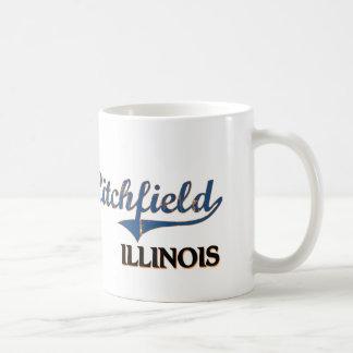 Obra clásica de la ciudad de Litchfield Illinois Taza Básica Blanca