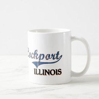 Obra clásica de la ciudad de Lockport Illinois Taza Básica Blanca