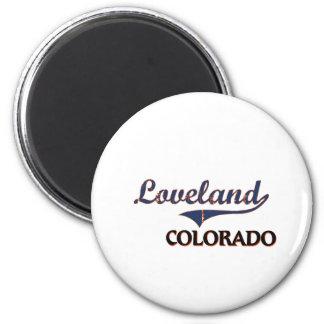 Obra clásica de la ciudad de Loveland Colorado Imán