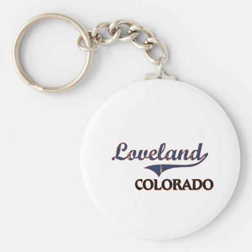 Obra clásica de la ciudad de Loveland Colorado Llaveros Personalizados