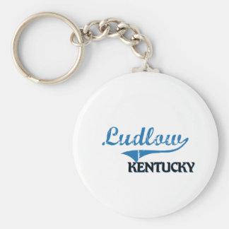 Obra clásica de la ciudad de Ludlow Kentucky Llavero Personalizado
