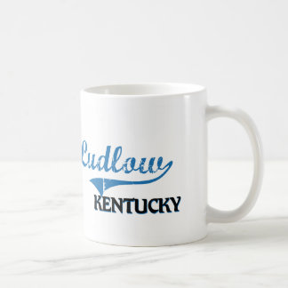 Obra clásica de la ciudad de Ludlow Kentucky Tazas