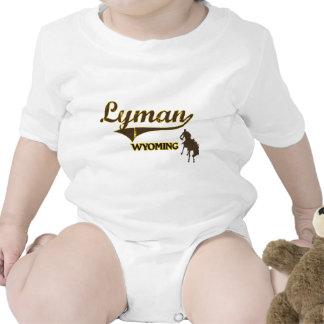 Obra clásica de la ciudad de Lyman Wyoming Traje De Bebé