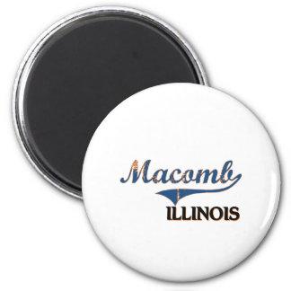 Obra clásica de la ciudad de Macomb Illinois Imán Redondo 5 Cm