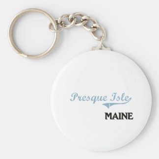 Obra clásica de la ciudad de Maine de la isla de Llavero Redondo Tipo Pin
