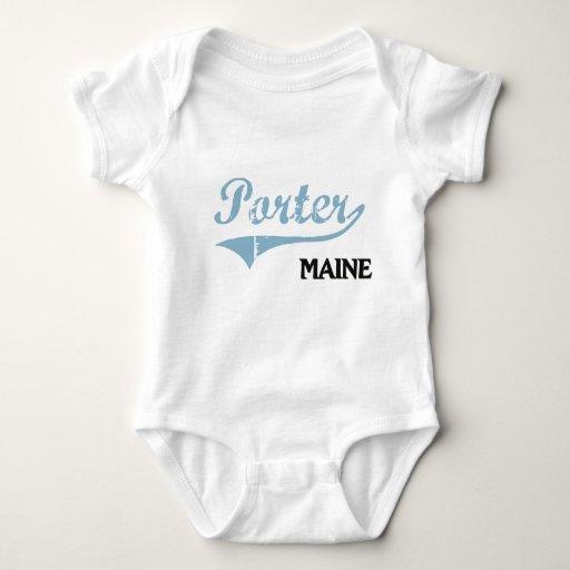 Obra clásica de la ciudad de Maine del portero Tee Shirt