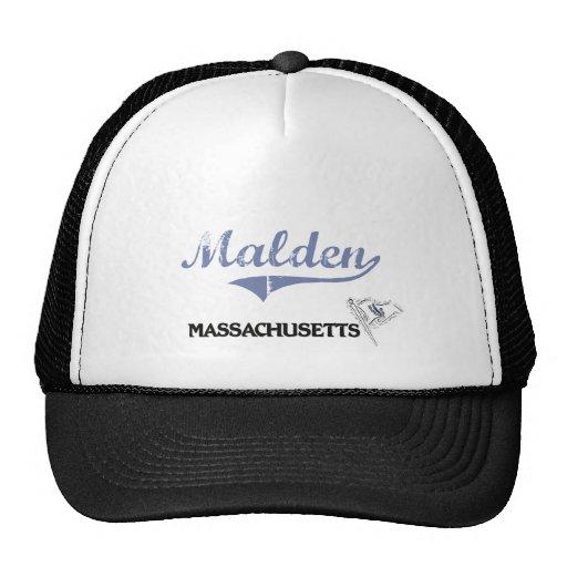 Obra clásica de la ciudad de Malden Massachusetts Gorros Bordados