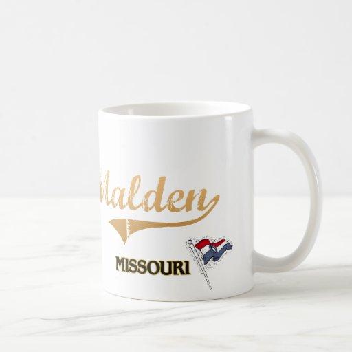 Obra clásica de la ciudad de Malden Missouri Taza De Café