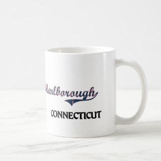 Obra clásica de la ciudad de Marlborough Connectic Tazas De Café