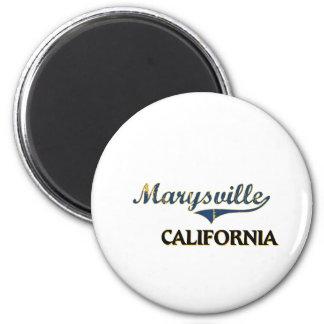 Obra clásica de la ciudad de Marysville California Imán Redondo 5 Cm