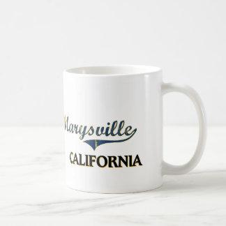 Obra clásica de la ciudad de Marysville California Taza Básica Blanca