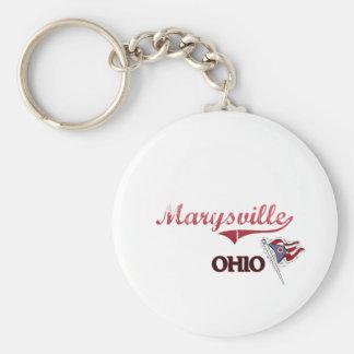 Obra clásica de la ciudad de Marysville Ohio Llavero Redondo Tipo Pin