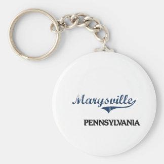 Obra clásica de la ciudad de Marysville Pennsylvan Llavero Redondo Tipo Pin