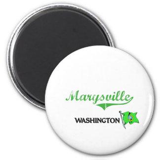 Obra clásica de la ciudad de Marysville Washington Imán Redondo 5 Cm