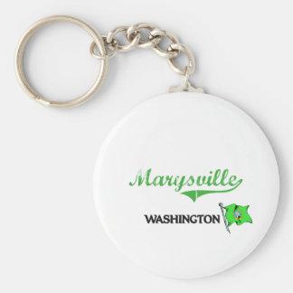 Obra clásica de la ciudad de Marysville Washington Llavero Redondo Tipo Pin