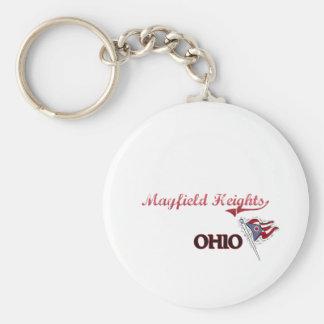 Obra clásica de la ciudad de Mayfield Heights Ohio Llavero