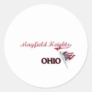 Obra clásica de la ciudad de Mayfield Heights Ohio Pegatina