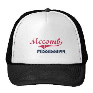 Obra clásica de la ciudad de Mccomb Mississippi Gorra