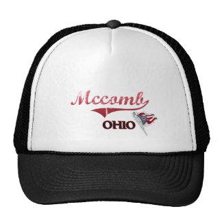 Obra clásica de la ciudad de Mccomb Ohio Gorras