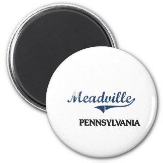 Obra clásica de la ciudad de Meadville Pennsylvani Imán Redondo 5 Cm