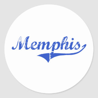 Obra clásica de la ciudad de Memphis Etiquetas Redondas
