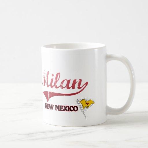 Obra clásica de la ciudad de Milano New México Tazas De Café