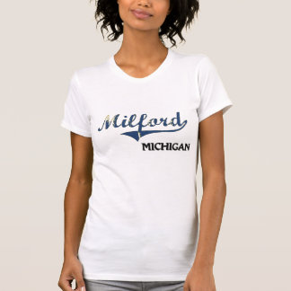 Obra clásica de la ciudad de Milford Michigan Camisetas