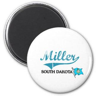 Obra clásica de la ciudad de Miller Dakota del Sur Imanes De Nevera